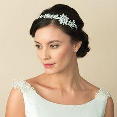 Aye Do Ltd - Agatha Wedding Side Headband (ic), £155.00 (http://www.ayedoweddings.co.uk/agatha-wedding-side-headband-ic/)