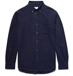 CLUB MONACO Slim-Fit Button-Down Collar Cotton-Flannel Shirt. #clubmonaco #cloth #casual shirts