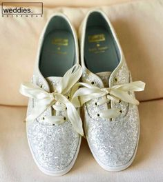 hochzeitsschuhe glitzer wedding shoes glitter Elegant Coral and Gold Clearwater Beach Wedding Silver Glitter Kate Spade for Keds Bridal Wedding Day Shoes. Glitter Wedding Shoes, Glitter Shoes, Silver Glitter, Keds, Clearwater Beach, Kate Spade Bridal Shoes, Wedding Sneakers, Coral And Gold, Bridal Accessories
