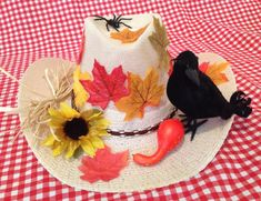 Women's Medium Adult Scarecrow Costume with Hat and Crow! on Etsy, $55.00