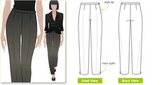 Willow Pant Sewing Pattern By Style Arc - Woven cigarette style pant with side zip Pdf Sewing Patterns, Clothing Patterns, Couture, Sewing Pants, Gorgeous Fabrics, Love Sewing, Pants Pattern, Pattern Fashion, Tulum