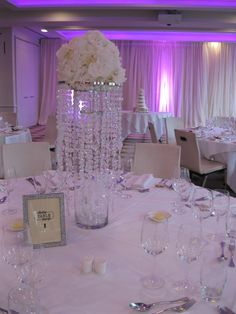 Wedding reception decor, lighting, centre pieces and draping for a wedding at the beautiful Merchant hotel. www.moodevents.co.uk