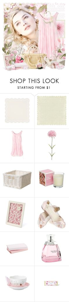 """Shine, bright morning light, now in the air the spring is coming - Happy birthday dear Ronnie8!!!"" by khanhvy ❤ liked on Polyvore featuring LOVA, Naoki, Cocoeve, Vera Wang, Lenox, Lollia, Cara Accessories, dresses, flats and spring"