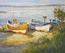 An Oil demonstration of boats at Runswick Bay by Robert Brindley an artist & painter, working in oils, watercolours, acrylics and pastels. A member of the Royal Society of Marine Artists specialising in capturing light in landscapes and coastal scenery Favorite Subject, Art Tips, Fishing Boats, Art Tutorials, Nautical, Scenery, Watercolor, Artist, Inspiration