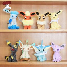 "Pokemon Plush Toys 7"" Sitting Umbreon Eevee Espeon Jolteon Vaporeon Flareon Glaceon Leafeon Plush Doll Kids Toys For Children"