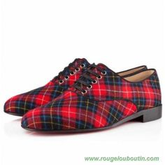 best service 97681 d176b FRED TARTAN, tartan, red/black, loafers, womens shoes by Christian  Louboutin on the EUROPE official shop online website.