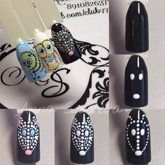80 Awesome Acrylic Almond Nails Designs – Page 4 Dot Nail Designs, Almond Nails Designs, Gel Designs, Acrylic Nail Designs, Acrylic Nails, Animal Nail Art, Nail Tutorials, Gorgeous Nails, Manicure And Pedicure