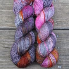 Yes, they really are that color at the aquarium! Our Deep Sea Jellyfish features bright orange and bright pink with shades of gray. This colorway is a Babette: every skein and every batch is a bit dif