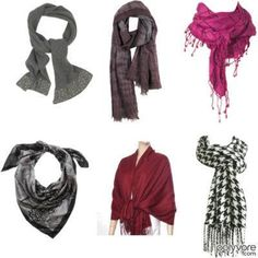 Different ways to wear a scarf!
