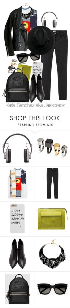 """""""""""Show me your broken heart and all your scars."""""""" by jaekoreoz on Polyvore featuring Master & Dynamic, H&M, Victoria Beckham, Acne Studios, Patrizia Pepe, Gucci, Yves Saint Laurent, Junya Watanabe Comme des Garçons and jaekoreoz"""