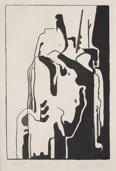 Clyfford Still, PL-18.1, 1943, lithograph, 12 7/8 x 8 3/4 in. (32.7 x 22.2 cm), Richmond, Virginia. Related to PH-93 (1944), oil on paper.