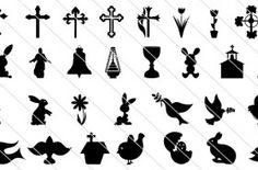 Easter Silhouette Vectors (65)