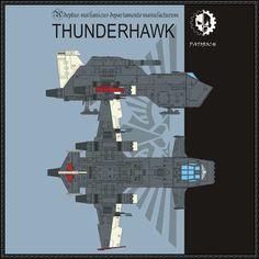 Warhammer 40K - Thunderhawk Gunship Ver.4 Free Papercraft Download - http://www.papercraftsquare.com/warhammer-40k-thunderhawk-gunship-ver-4-free-papercraft-download.html