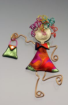 """Chica go go""""""""   made with wire and friendly plastic"""