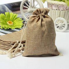 Blank Burlap Drawstring Rustic Vintage Wedding Favour Bag