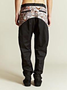 New Power Studio Men's Print Panel Yoke Trousers | LN-CC