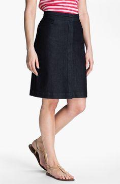 NYDJ 'Caitlyn' Pull-On Denim Skirt (Petite) available at ...