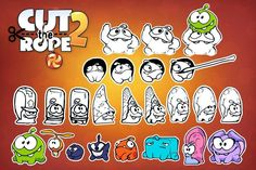 """""""Cut The Rope"""" and """"Pudding Monsters"""": Initial Graphic Designs and Sketches by ZeptoLab"""
