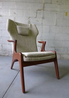 Adrian PEARSALL styled mid century Lounge Chair by CIRCA60 on Etsy