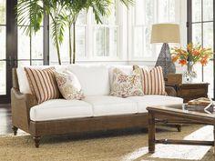Tommy Bahama Home Living Room Harborside Sofa   Royal Furniture And Design    Key West, Florida Keys, Marathon And Key Largo