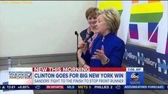 Hillary Clinton: I hope to 'wrap up' the Democratic nomination with New York victory