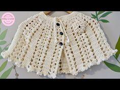 Crochet Baby Poncho, Crochet Tunic, Crochet Collar, Crochet Vests, Crochet Quilt Pattern, Crochet Patterns, Crochet Edgings, Shawl Patterns, Crochet Motif