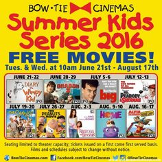 Free Morning Movies at the Bow Tie Cinemas