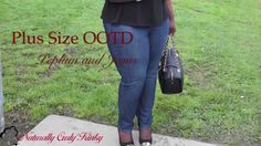 Plus Size OOTD: Peplum and Jeans
