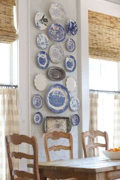 Or, put her most decorative plates on display—a classic Grandma move.Via Holly Mathis Interiors, Cou... - Becki Griffin's Curious Details