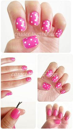 casscc:    Hot pink polka-dots! Kind of a how-to? :)
