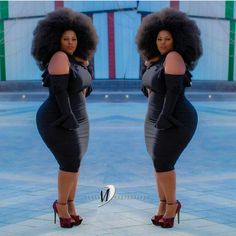 When you see this lady, the first thought that comes to mind is BEAUTIFUL. Esther Nagawa who is born and raised in Mukono, Uganda but now . Plus Size Chic, Trendy Plus Size Fashion, Big Girl Fashion, Curvy Women Fashion, African Models, African Women, Curvy Inspiration, Plus Sise, Black Is Beautiful