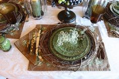 vine wreath charger | Grapevine wreaths used as chargers