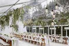foliage inspired clear marquee wedding decor - brides of adelaide