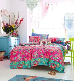 .pretty bedspread, and of course love the dresser.