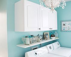 Cool Design Laundry Room Cabinet Ideas Love The Wall Color