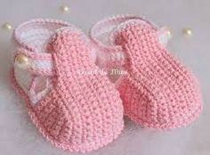 Resultado de imagen de sapatinhos bebe crochet