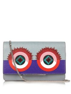 FENDI Bag Bugs Leather Cross-Body Bag. #fendi #bags #canvas #keychain #lining #accessories #shoulder bags #suede #