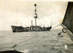 Sparrowhawk visits the Shambles-Lightship.Weymouth sailing club history.