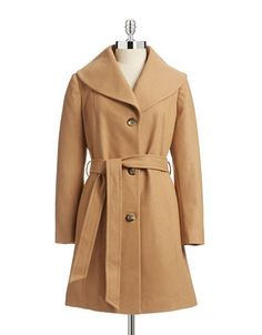 Women's | Peacoats & Wool Coats | Essential Wool Blend Shawl Wrap Coat | Hudson's Bay