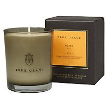 True Grace Amber Scented Candle Online at johnlewis.com Scents create real ambience within a room and why not choose aromas that are fiting with the interiors? #FashionYourHome