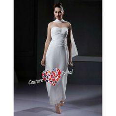 pretty Prom Dresses, Formal Dresses, Wedding Dresses, 35th Wedding Anniversary, Satin Tulle, Wedding Dress Chiffon, Ankle Length, Bridal Gowns, One Shoulder Wedding Dress