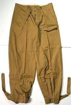 WWII GERMAN AFRIKA KORP TROPICAL LUFTWAFFE JUMP FIELD TROUSERS-SIZE 3 36 WAIST | eBay Military Clothing, Luftwaffe, Winter Looks, Wwii, Drill, Safari, Men's Fashion, German, Trousers