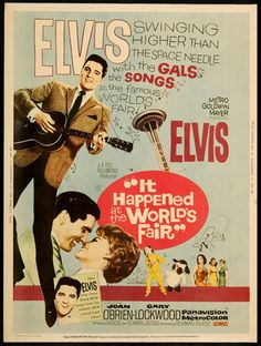 """""""It Happened at The Worlds Fair"""" (1963) Movie Poster Released on April 3, 1963"""