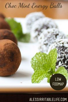Choc Mint Energy Balls {low FODMAP, dairy-free} - A Less Irritable Life