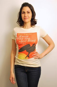 I Know Why the Caged Bird Sings book cover t-shirt | Outofprintclothing.com