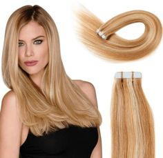 Tape in Hair Extensions Human Hair 20 inch Seamless Skin Weft Remy Straight Hair Strawberry Blonde Types Of Hair Extensions, Virgin Hair Extensions, Tape In Hair Extensions, Latest Hairstyles, Straight Hairstyles, Cool Hairstyles, Hair Products Online, Hair Online, Strawberry Blonde