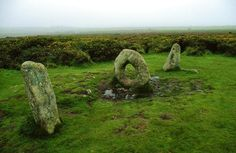 Men-An-Tol  Near Madron, on the Lands End peninsula, the Men-an-tol is an upright circular stone with a hole in the middle. On either side i...