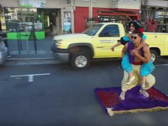 "Things We Saw Today: Aladdin & Jasmine Riding a Skateboard €""Err, Magic Carpet €""Through San Francisco #rideur"