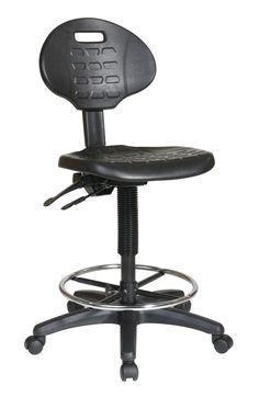 Work Smart™ Intermediate Ergonomic Drafting Chair with Adjustable Footrest