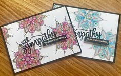 Hero Arts – Henna Flower Pattern, Avery Elle – With Sympathy Stamp & Die, Zig Clean Color Real Brush Markers . Flower Henna, Brush Markers, Hero Arts, Flower Patterns, Things To Think About, Appreciation, Stamp, Flowers, Blog